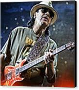 Carlos Santana On Guitar 2 Canvas Print by The  Vault - Jennifer Rondinelli Reilly