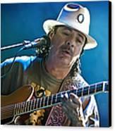 Carlos Santana On Guitar 3 Canvas Print by The  Vault - Jennifer Rondinelli Reilly