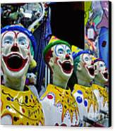 Carnival Clowns Canvas Print by Kaye Menner
