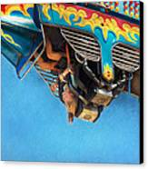 Carnival - Ride - The Thrill Of The Carnival  Canvas Print by Mike Savad