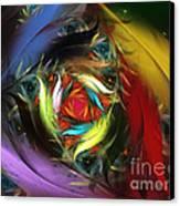 Carribean Nights-abstract Fractal Art Canvas Print by Karin Kuhlmann