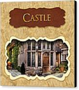 Castle Button Canvas Print by Mike Savad