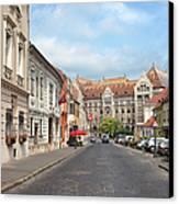 Castle District In Budapest Canvas Print by Artur Bogacki