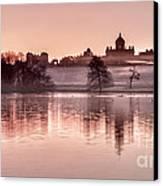 Castle Howard Dawn Canvas Print by Janet Burdon