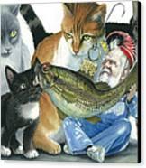 Catatomic Canvas Print by Denny Bond