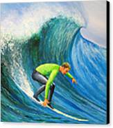 Catch The Wave Canvas Print by Bev Martin