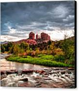 Cathedral Crossing Red Rock Canvas Print by Linda Pulvermacher
