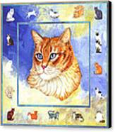 Cats Purrfection Five - Orange Tabby Canvas Print by Linda Mears