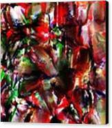 Caught In The Crowd Two Water Color And Pastels Wash Canvas Print by Sir Josef Social Critic - ART