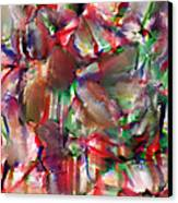 Caught In The Crowd Water Color And Pastel Canvas Print by Sir Josef Social Critic - ART