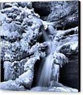 Cedar Falls In Winter Canvas Print by Dan Sproul