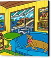 Cedar Key Snoozer Canvas Print by Mike Segal
