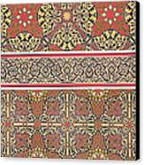 Ceiling Arabesques From The Mosque Of El-bordeyny Canvas Print by Emile Prisse d Avennes
