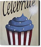 Celebrate The 4th Of July Canvas Print by Catherine Holman