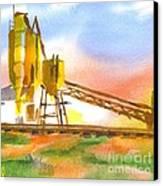 Cement Plant II Canvas Print by Kip DeVore