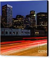 Century City Skyline At Night Canvas Print by Paul Velgos