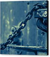 Chained And Moody Canvas Print by Toni Hopper