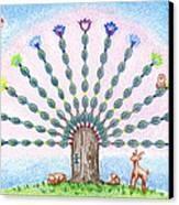 Chakra Tree Canvas Print by Keiko Katsuta