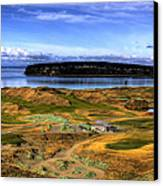 Chambers Bay Golf Course Canvas Print by David Patterson