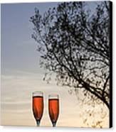Champagne For Two Canvas Print by Kay Pickens