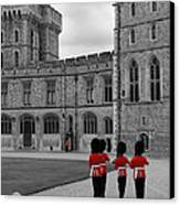 Changing Of The Guard At Windsor Castle Canvas Print by Lisa Knechtel