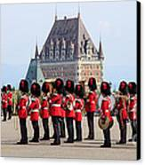 Changing Of The Guard The Citadel Quebec City Canvas Print by Edward Fielding