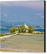 Chapel On Small Island In Posedarje Canvas Print by Brch Photography