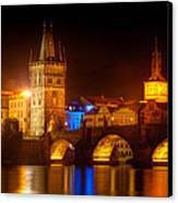 Charles Bridge II- Prague Canvas Print by John Galbo