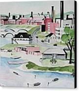 Charles River Canvas Print by Sue Melanson