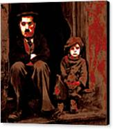 Charlie Chaplin 20130212-2-square Canvas Print by Wingsdomain Art and Photography