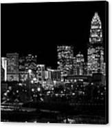Charlotte Night V2 Canvas Print by Chris Austin
