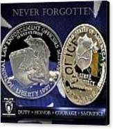 Charlotte Police Memorial Canvas Print by Gary Yost