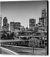 Charlotte Sunset Black And White Canvas Print by Brian Young