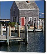 Charming Edgartown Harbor  Canvas Print by Juergen Roth