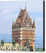 Chateau Frontenac Quebec City Canada Canvas Print by Edward Fielding