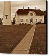 Chatham Lighthouse Canvas Print by Skip Willits