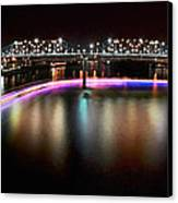 Chattanooga Holiday Boat Parade Canvas Print by Steven Llorca