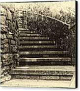 Cheekwood Stairs Cropped Canvas Print by Mark Furnell