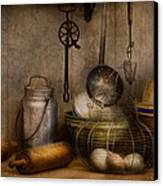 Chef - Ingredients - Breakfast And Grandpa's Canvas Print by Mike Savad