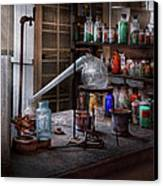 Chemist - My Retort Is Better Than Yours  Canvas Print by Mike Savad
