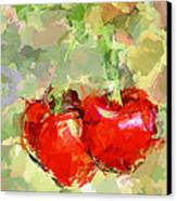 Cherries Abstract Canvas Print by Yury Malkov