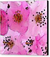 Cherry Blossoms - Flowers So Pink Canvas Print by Sharon Cummings