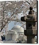 Cherry Blossoms With Jefferson Memorial - Washington Dc - 011326 Canvas Print by DC Photographer