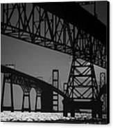 Chesapeake Bay Bridge At Annapolis Canvas Print by Skip Willits