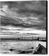 Chesapeake Mornings Bw Canvas Print by JC Findley