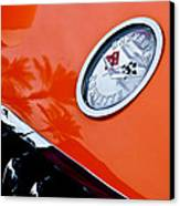 Chevrolet Corvette Hood Emblem Canvas Print by Jill Reger