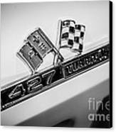 Chevy Corvette 427 Turbo-jet Emblem Canvas Print by Paul Velgos