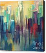 Chicago A Reflection Canvas Print by Julie Lueders