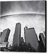 Chicago Black And White Photography Canvas Print by Dapixara Art