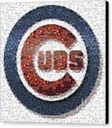 Chicago Cubs Mosaic Canvas Print by David Bearden